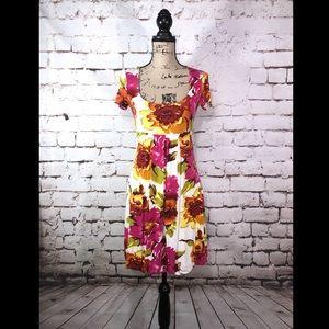 Cache Floral Print Dress